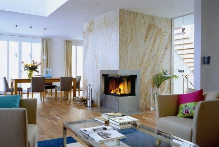 Flexible Natural Stone for Fireplace Wall
