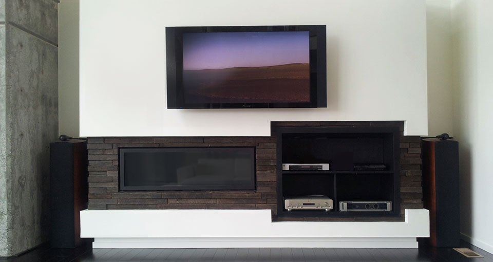 Wood Wall Tiles, Fireplace Surround