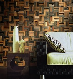 reclaimed boat wood wall tiles