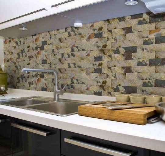 The Eco Floor Store | Eco Surfaces | Peel + Stick Slate Veneer Wall ...