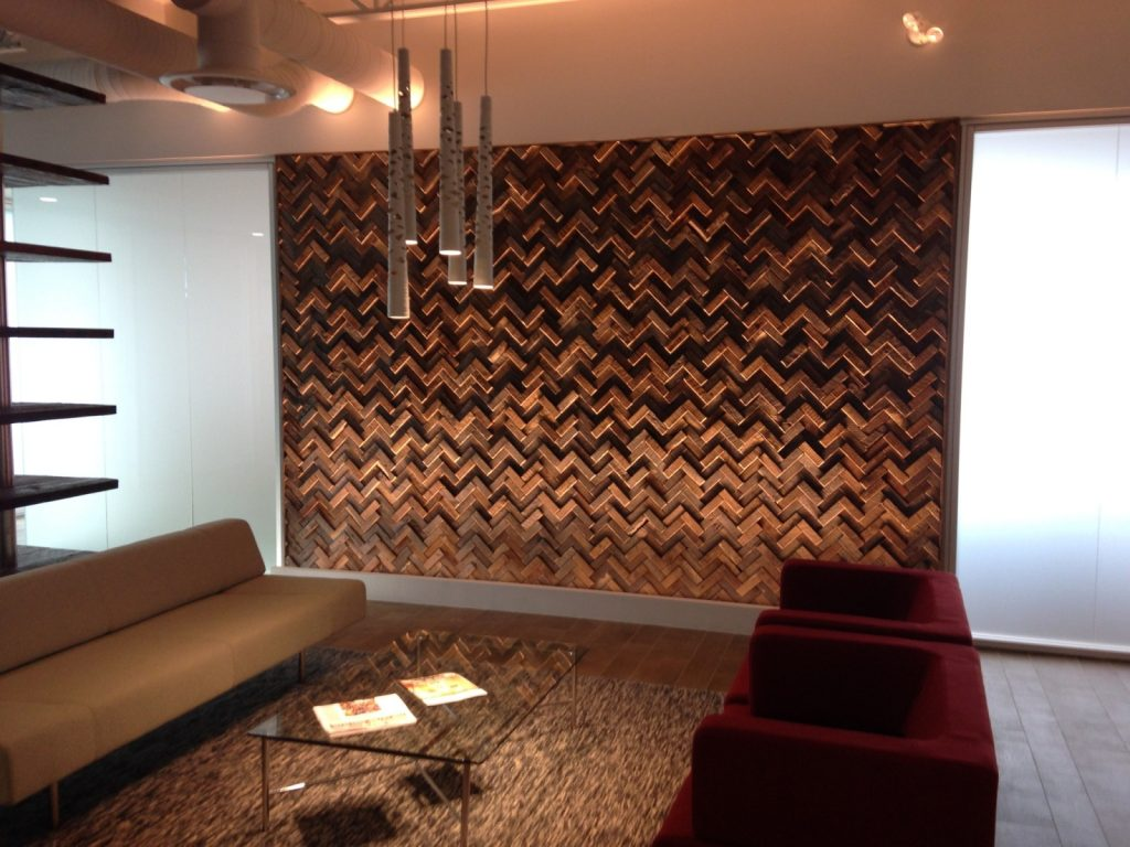 Barn Wood Wall Tiles Feature Wall