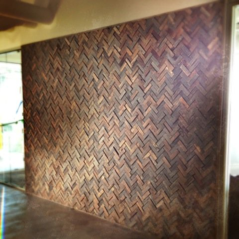 Reclaimed Barn Wood Tiles - Feature Wall