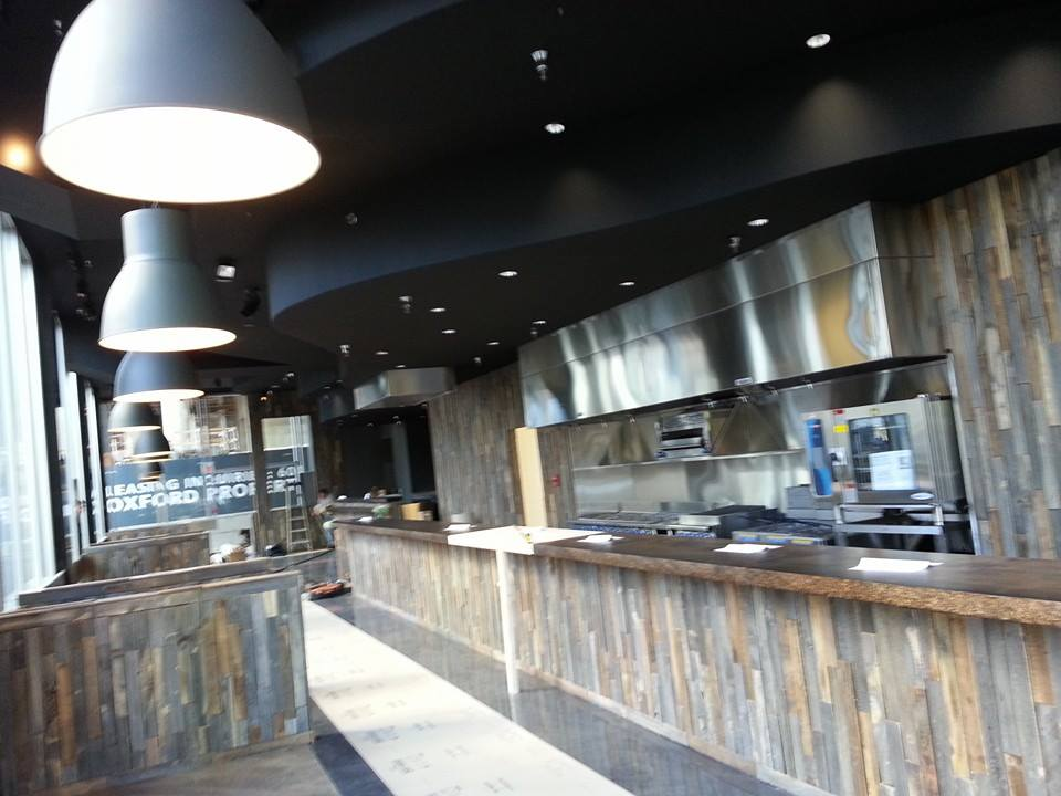 Chewies at Coal Harbour, Vancouver - Reclaimed Barn Wood Tiles