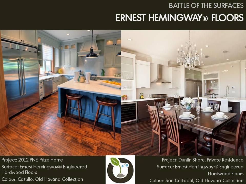 Battle of the Surfaces, Ernest Hemingway engineered hardwood floors