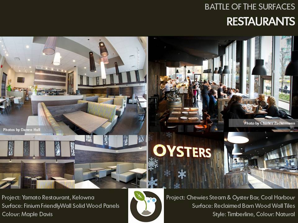 Battle of the Surfaces, Restaurants